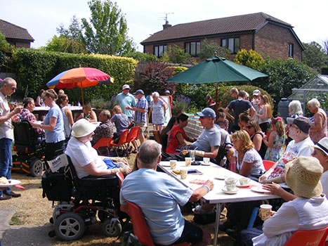 garden party for residents and family